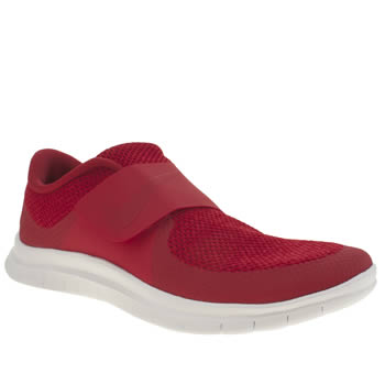 NIKE RED FREE SOCFLY TRAINERS