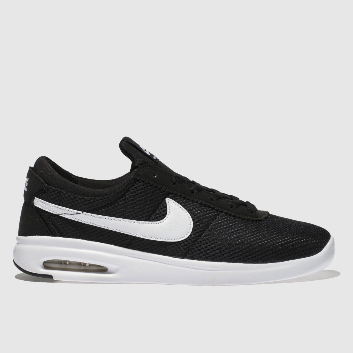 Nike Sb Black & White Air Max Bruin Vapor Trainers