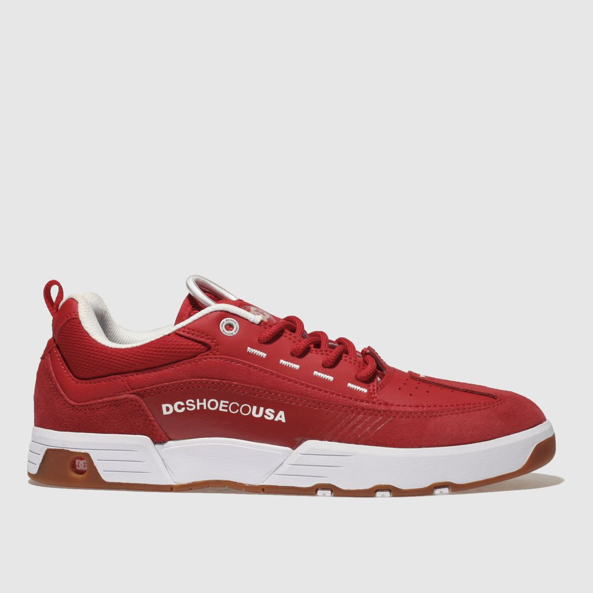 dc shoes Dc Shoes Red Legacy 98 Slim Trainers