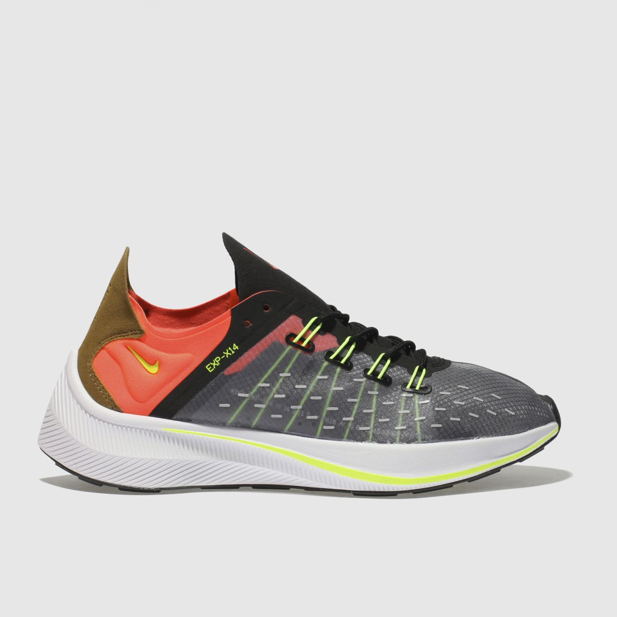 Nike Black & Orange Exp-x14 Trainers