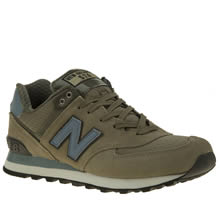 New Balance Green 574 Mens Trainers
