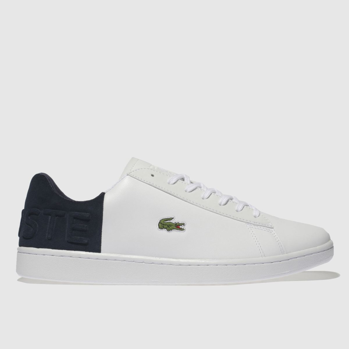 Lacoste White & Navy Carnaby Croc Trainers