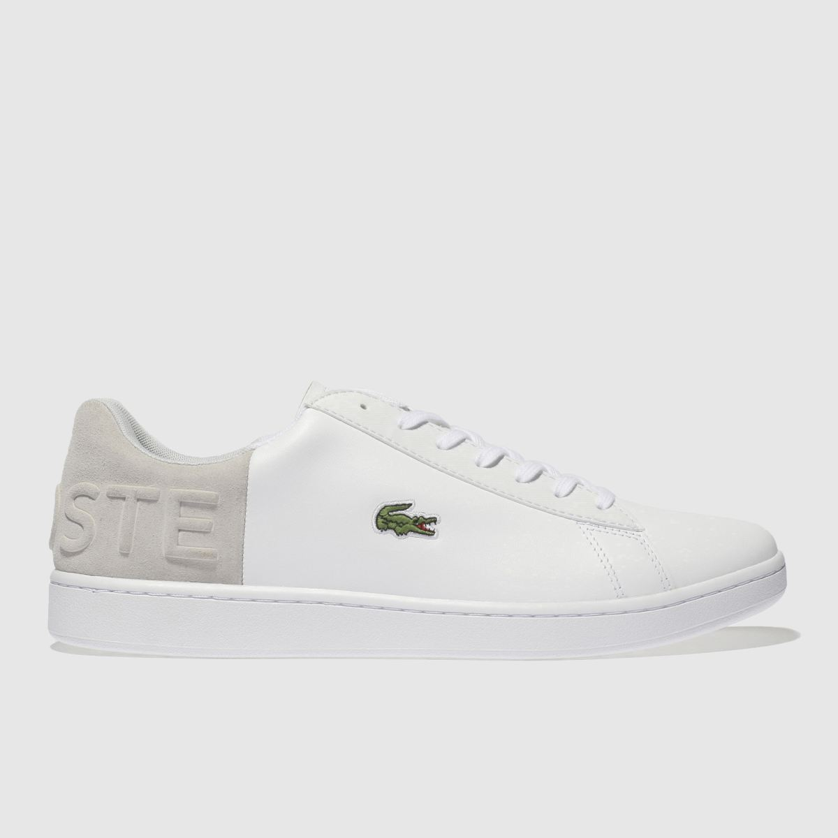 Lacoste White & Grey Carnaby Croc Trainers