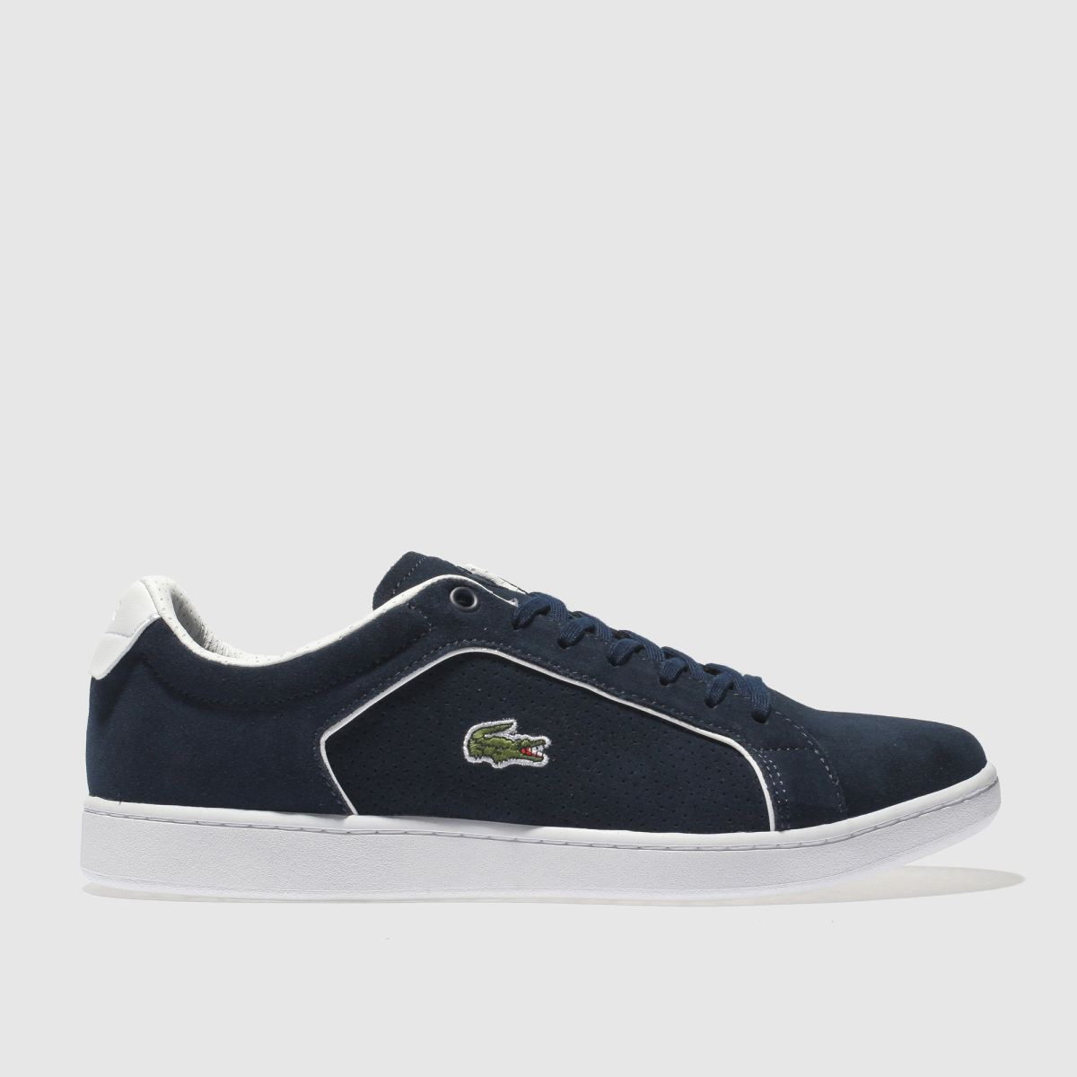 Lacoste Navy & White Carnaby Evo Trainers