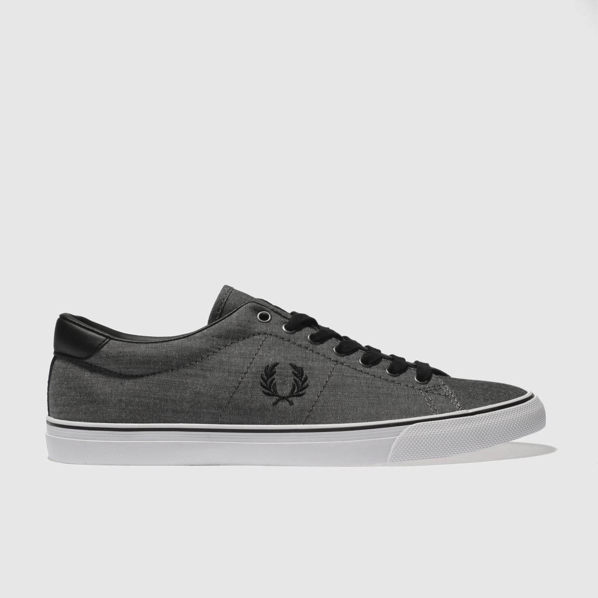 Fred Perry Black Underspin Shirting Trainers