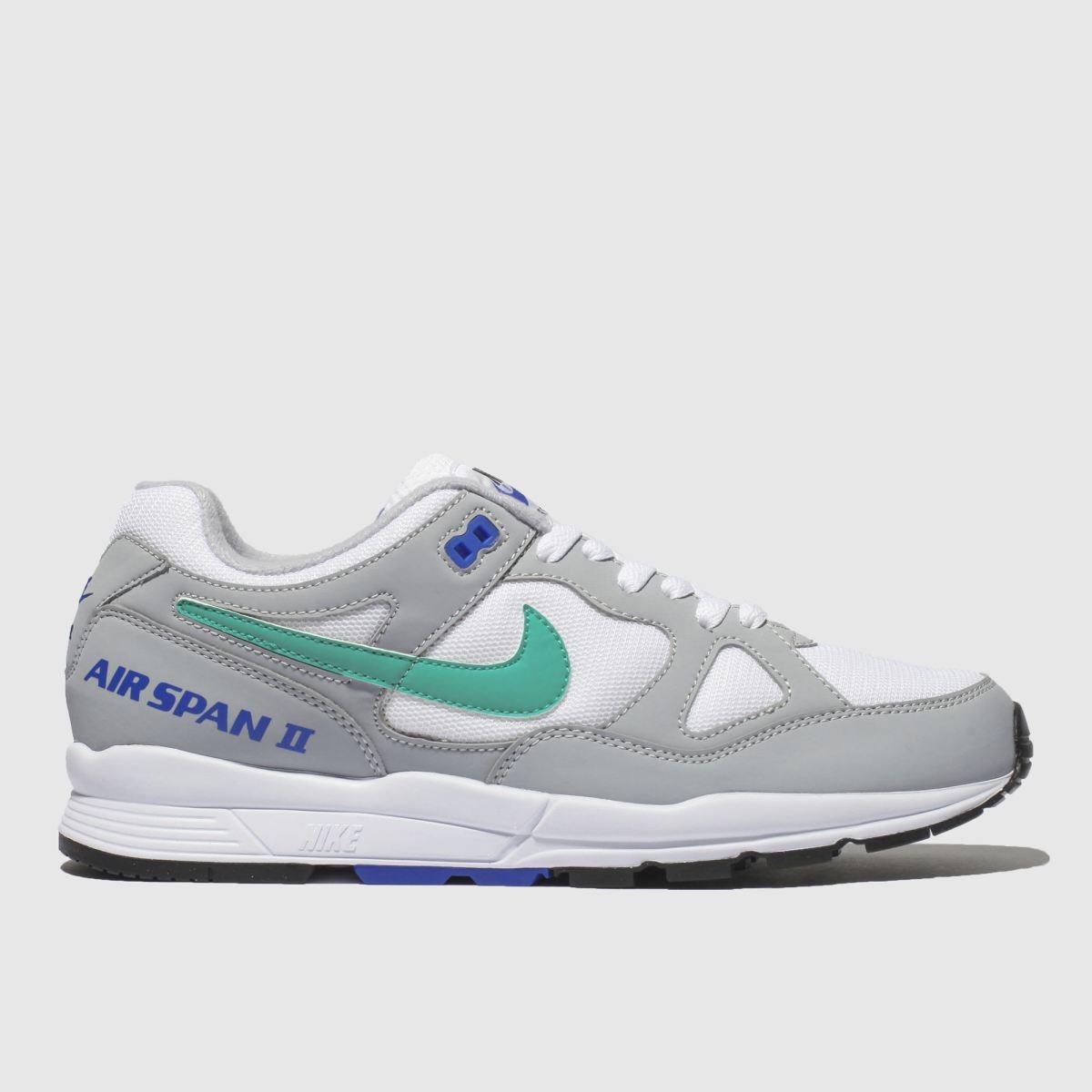 Nike Light Grey Air Span Ii Trainers