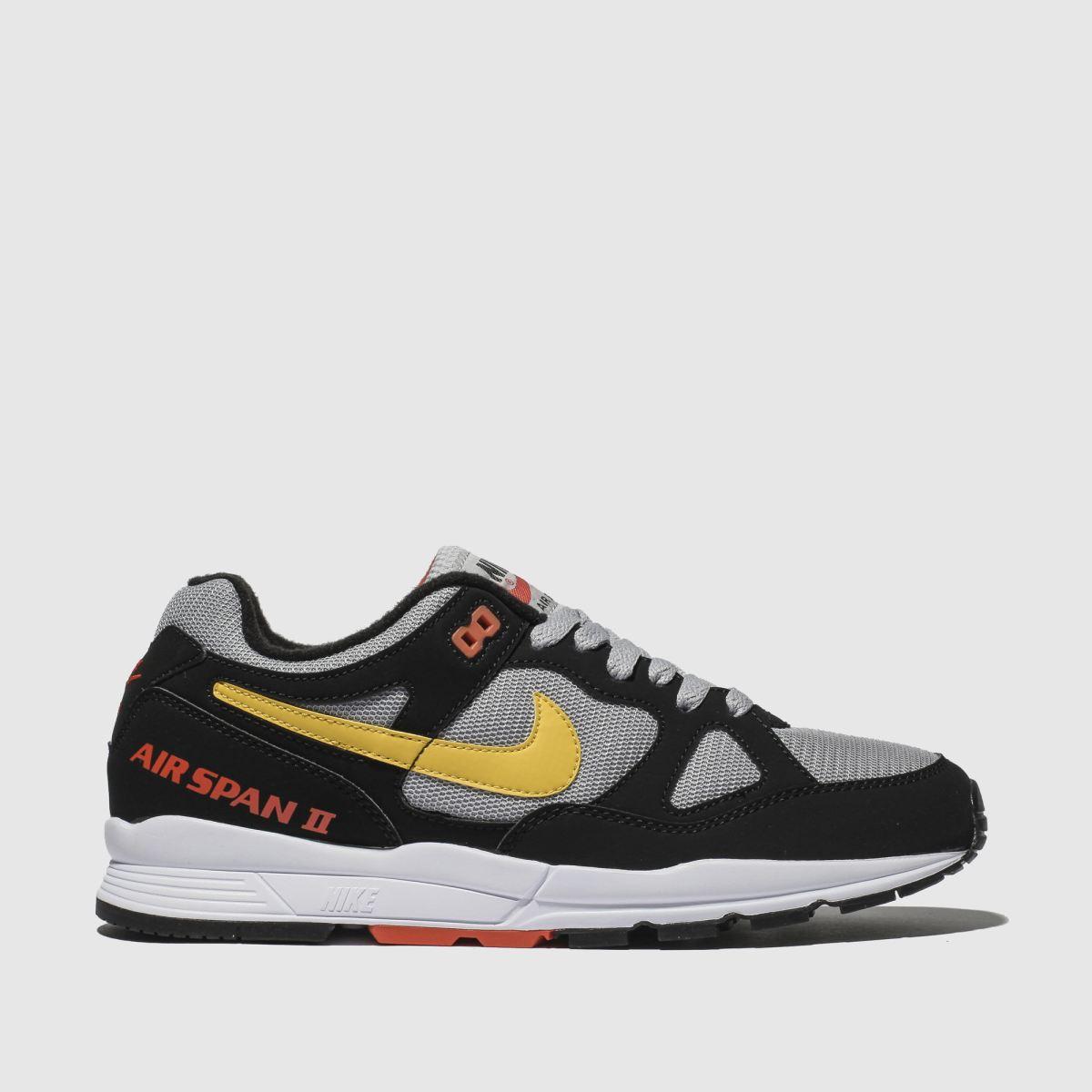 Nike Black & Grey Air Span Ii Trainers