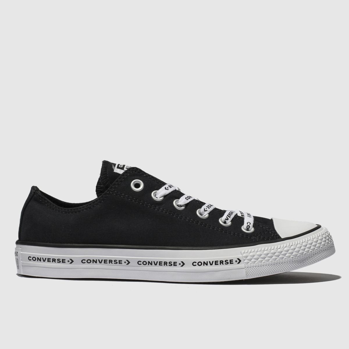 Converse Black & White All Star Ox Logo Laces Trainers
