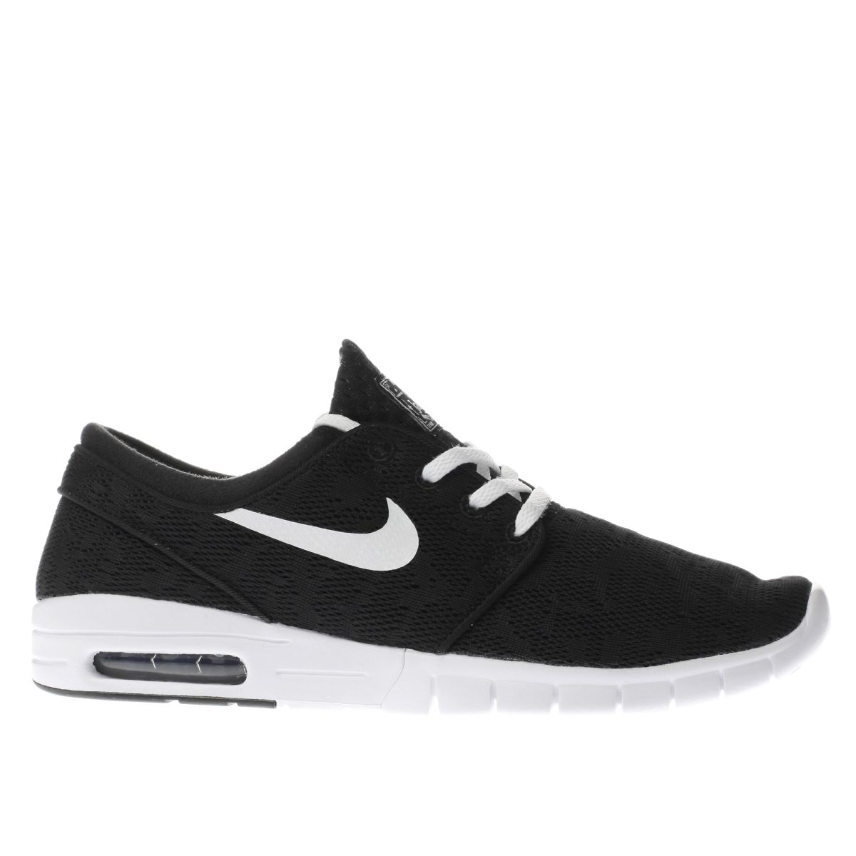 nike sb black & white stefan janoski max trainers