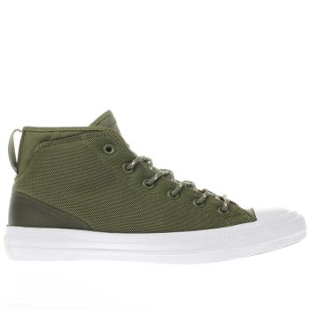 Converse Khaki All Star Syde Street Mid Mens Trainers
