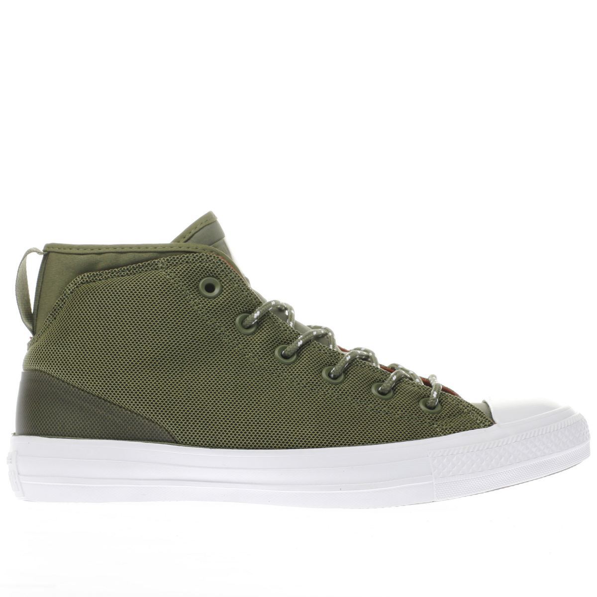 converse khaki all star syde street mid trainers