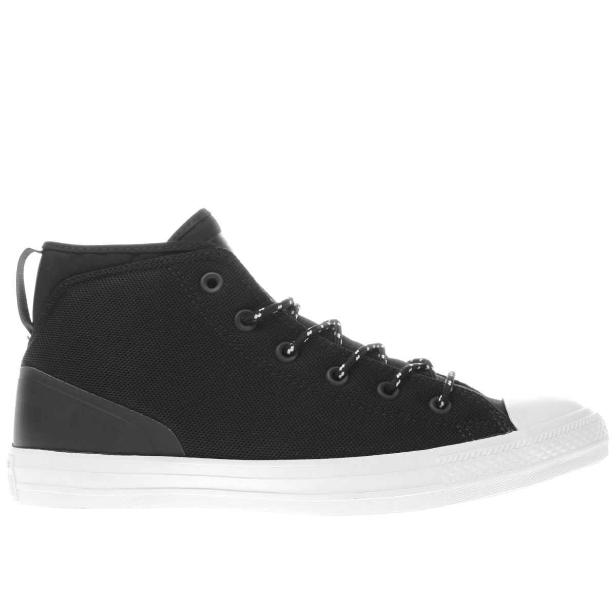 converse black all star syde street mid trainers