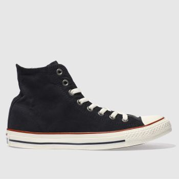 Converse Black All Star Ombre Wash Hi Mens Trainers