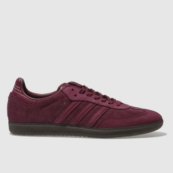Adidas Burgundy Samba Fb Mens Trainers