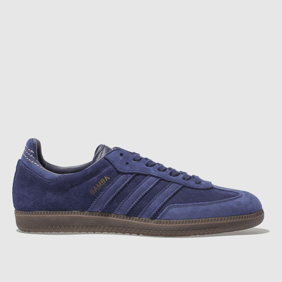 Adidas Blue Samba Fb Trainers