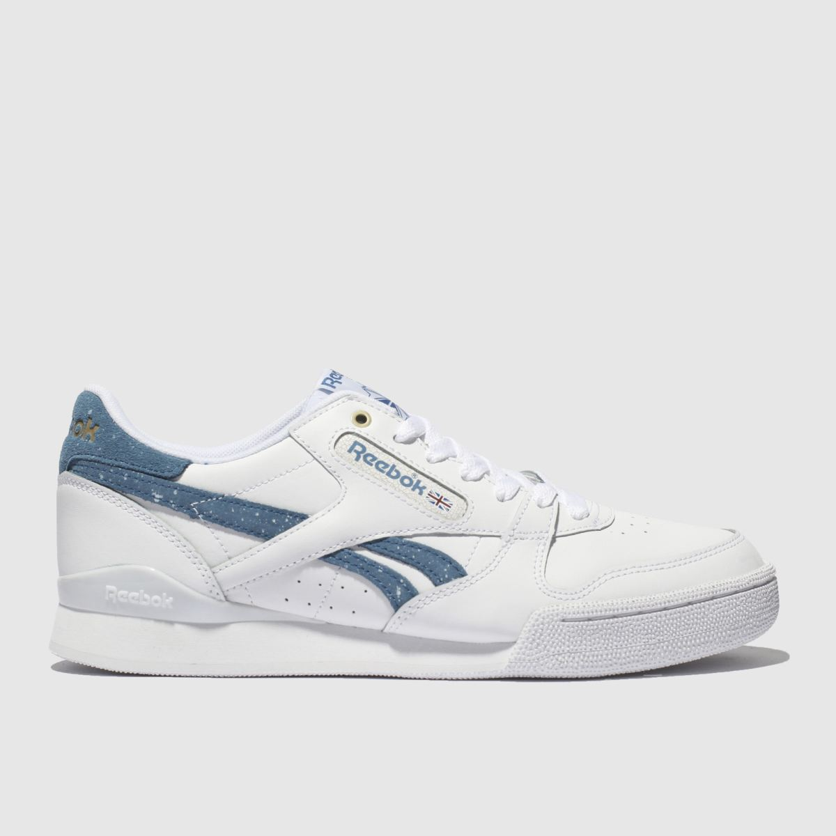 Reebok White & Blue Phase 1 Pro Trainers