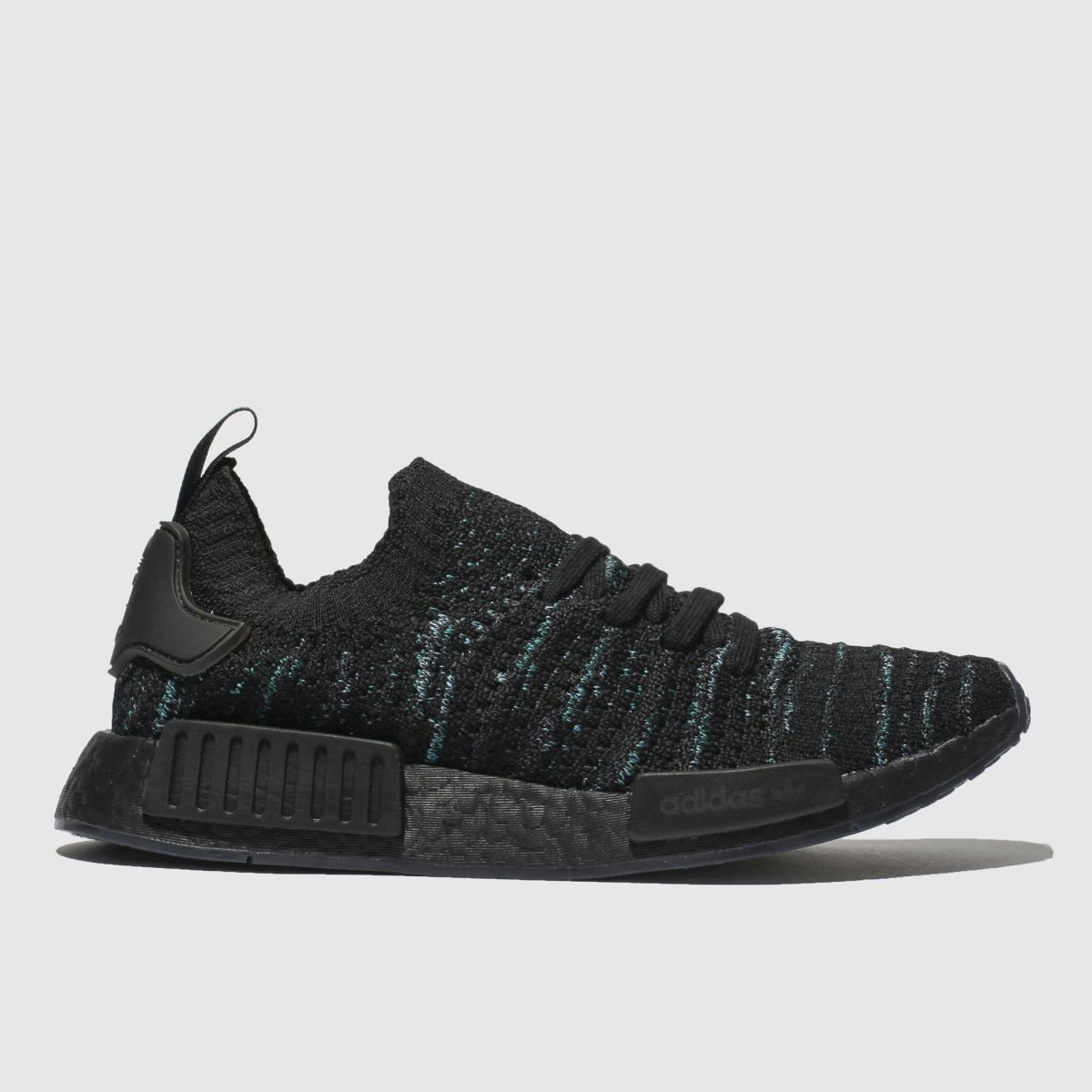 Adidas Black And Blue Nmd_r1 Stlt Parley Trainers