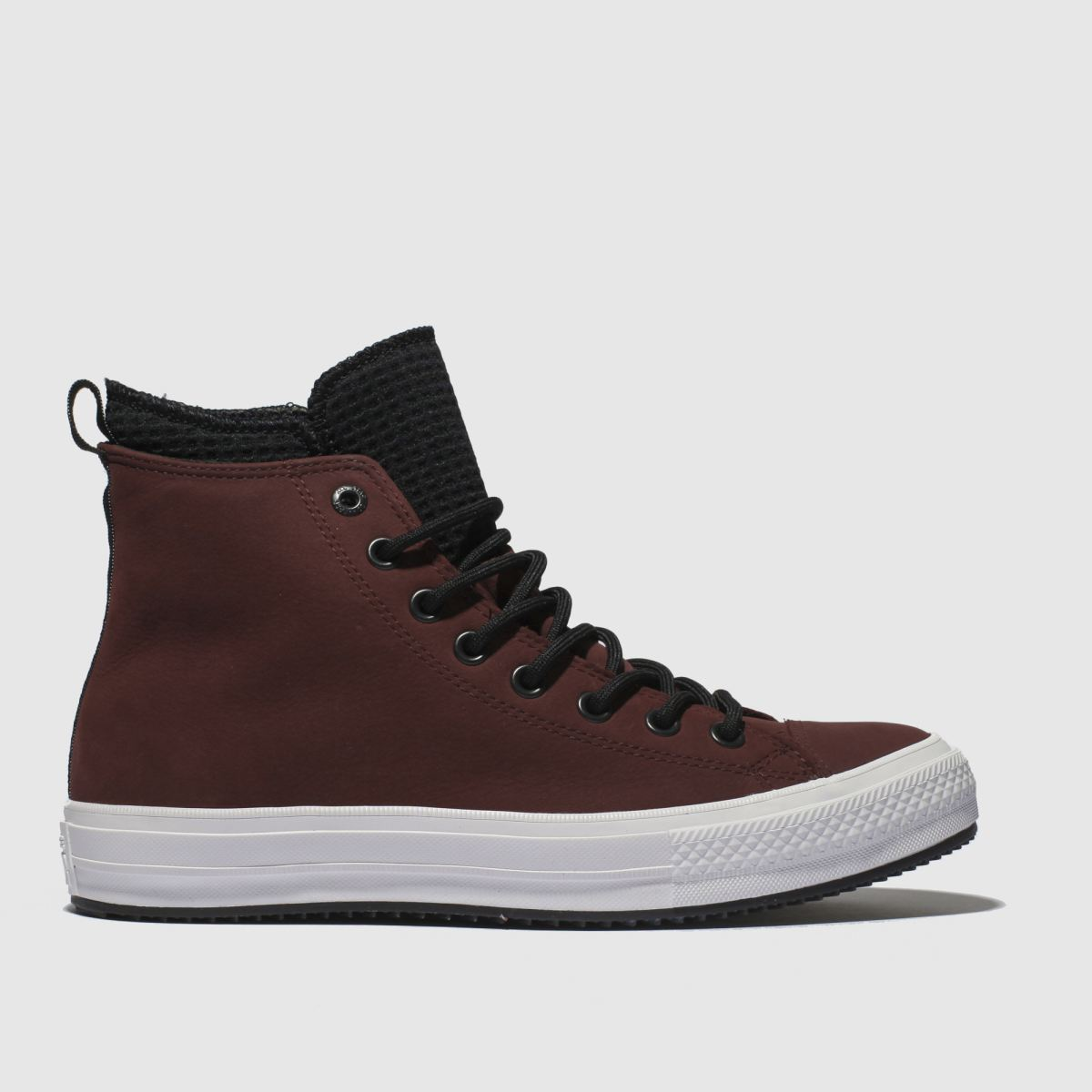 Converse Burgundy All Star Utility Draft Boot Hi Trainers