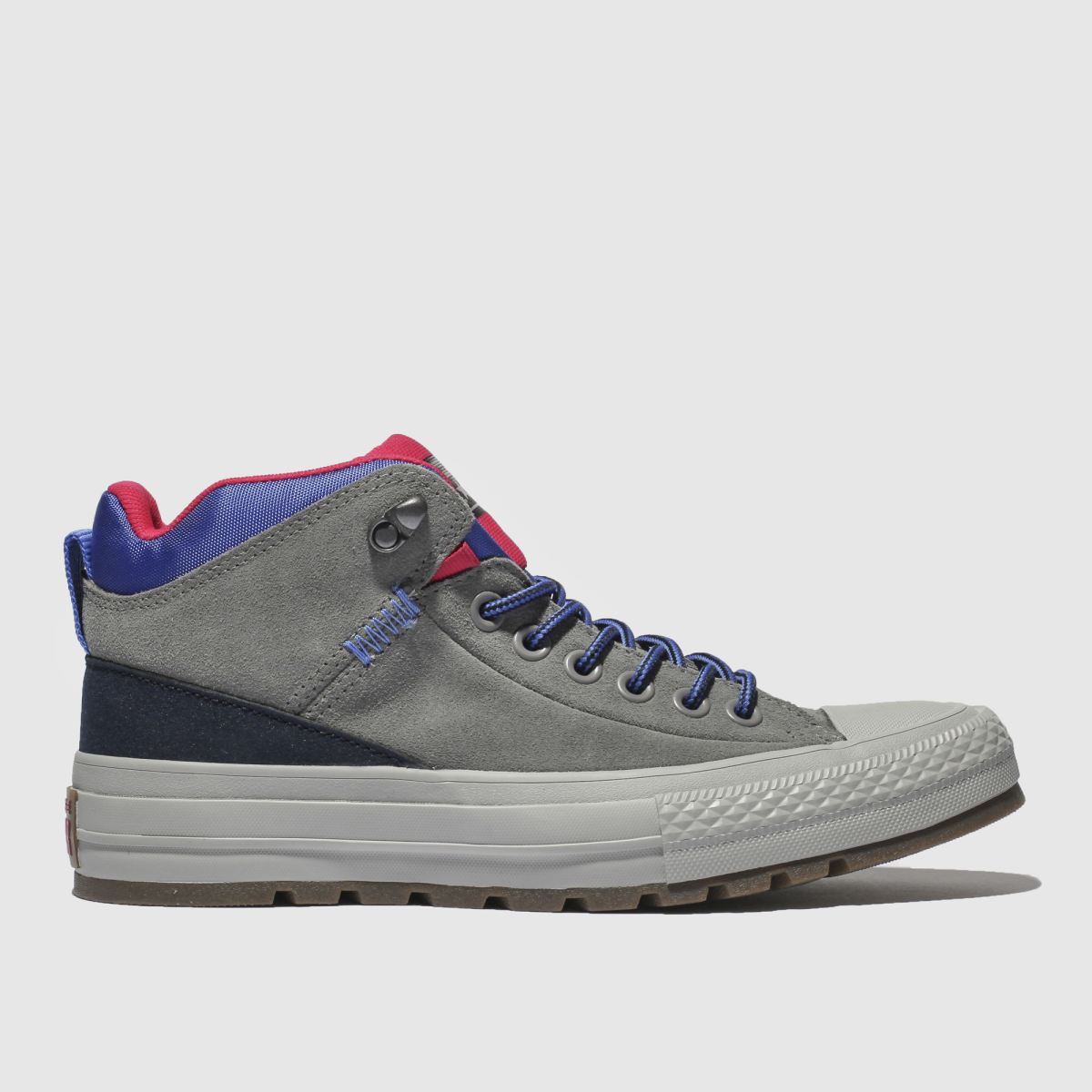 Converse Grey & Navy All Star Street Boot Hi Trainers