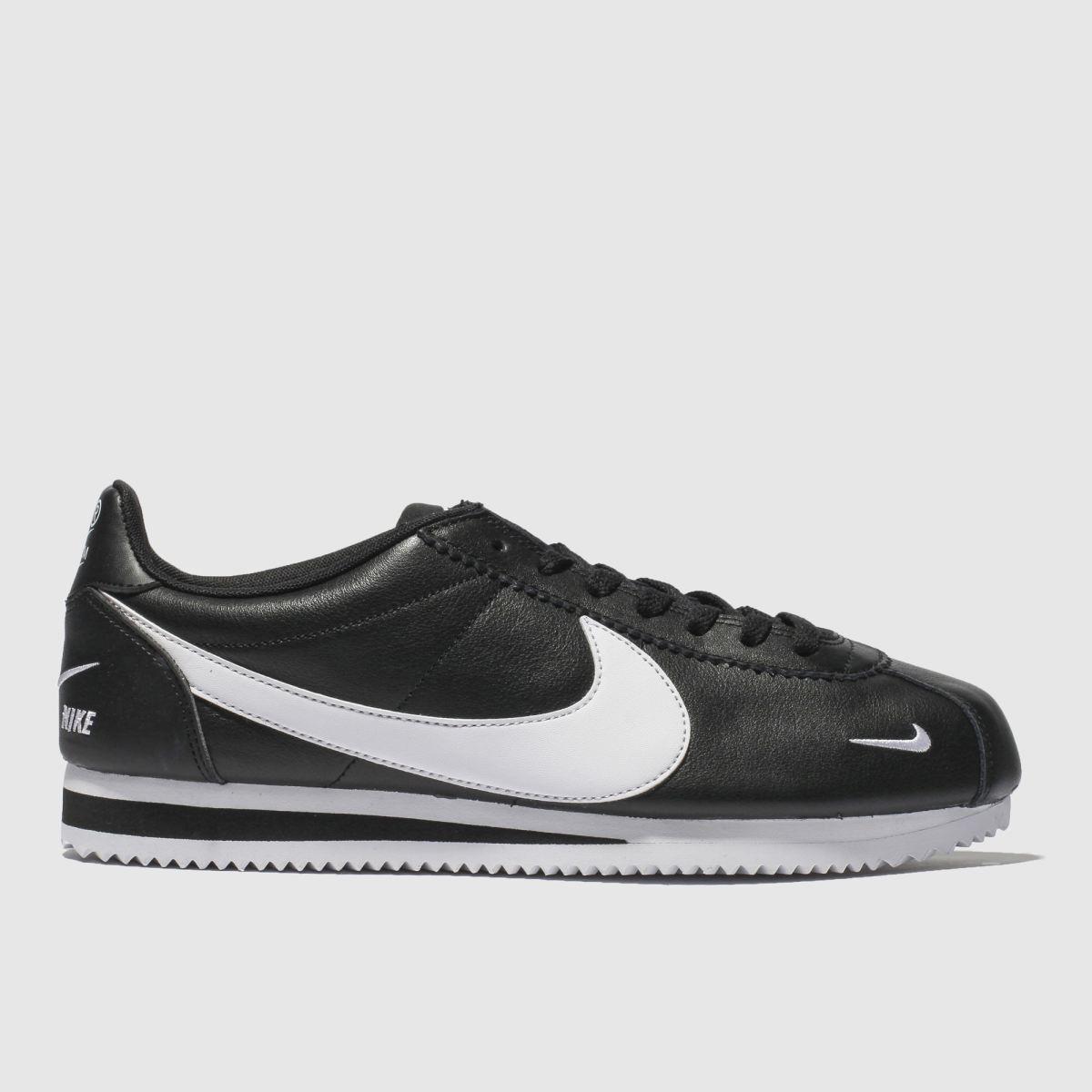 Nike Black & White Classic Cortez Premium Trainers