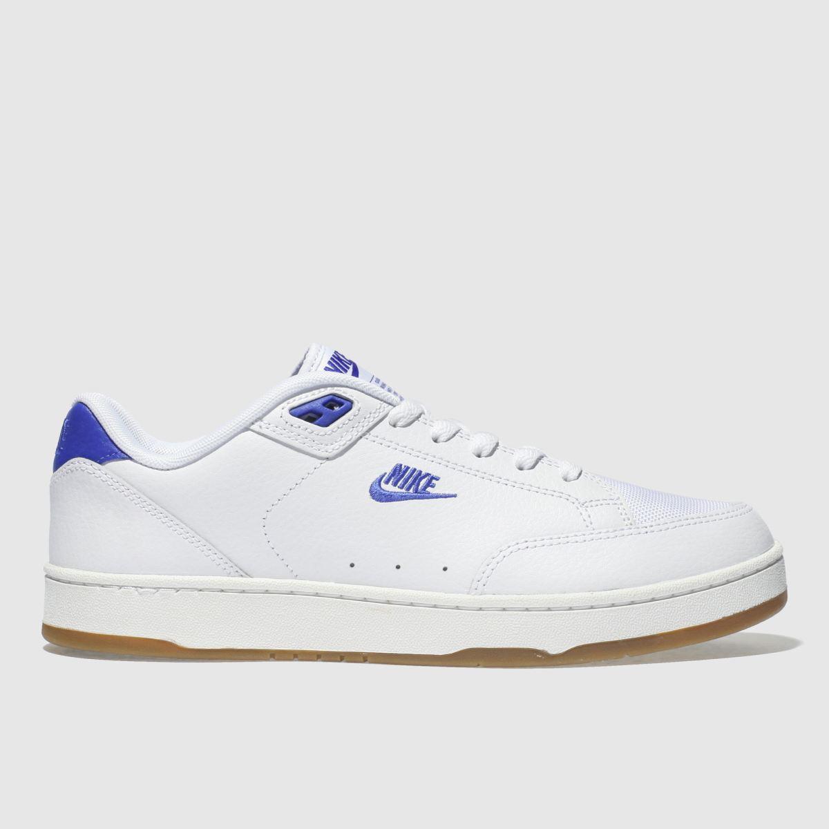 Nike White & Blue Grandstand Ii Premium Trainers