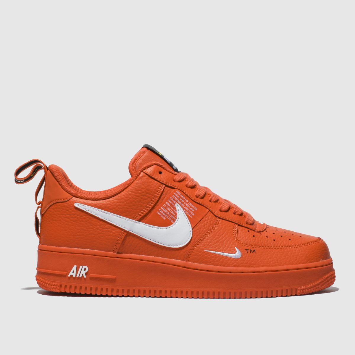 Nike Orange Air Force 1 07 Lv8 Utility Trainers