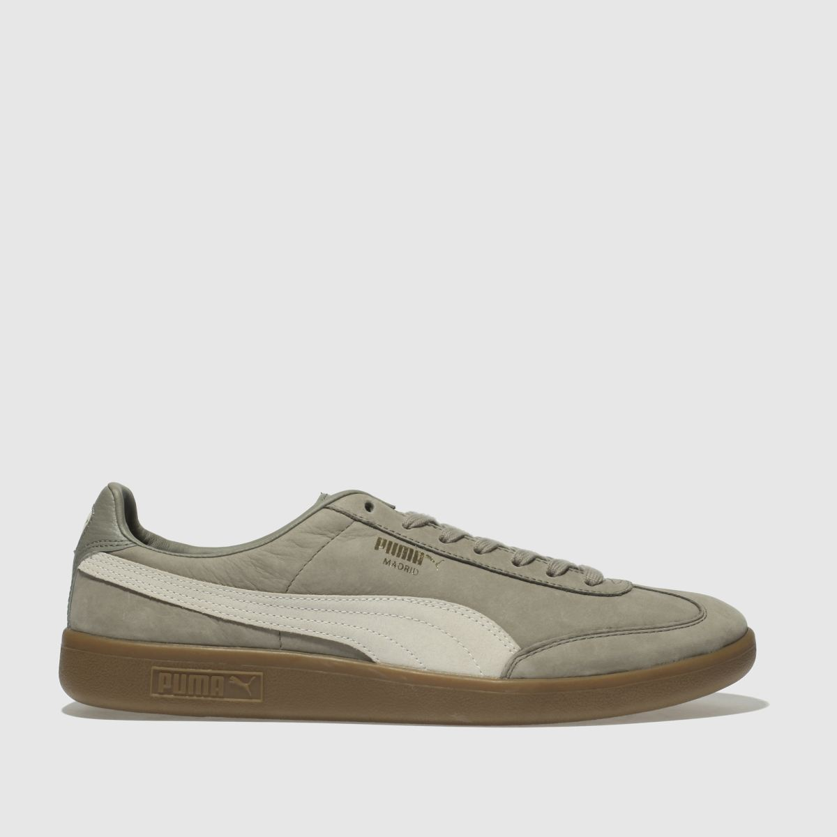 Puma Light Grey Madrid Nubuck Trainers