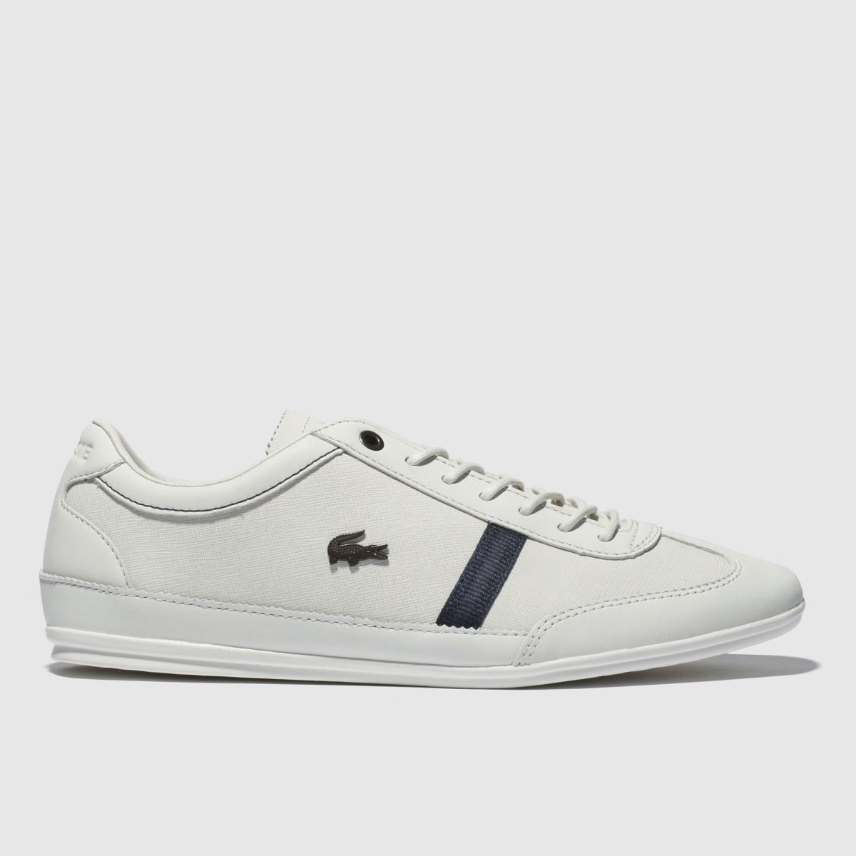 Lacoste White & Navy Misano Trainers