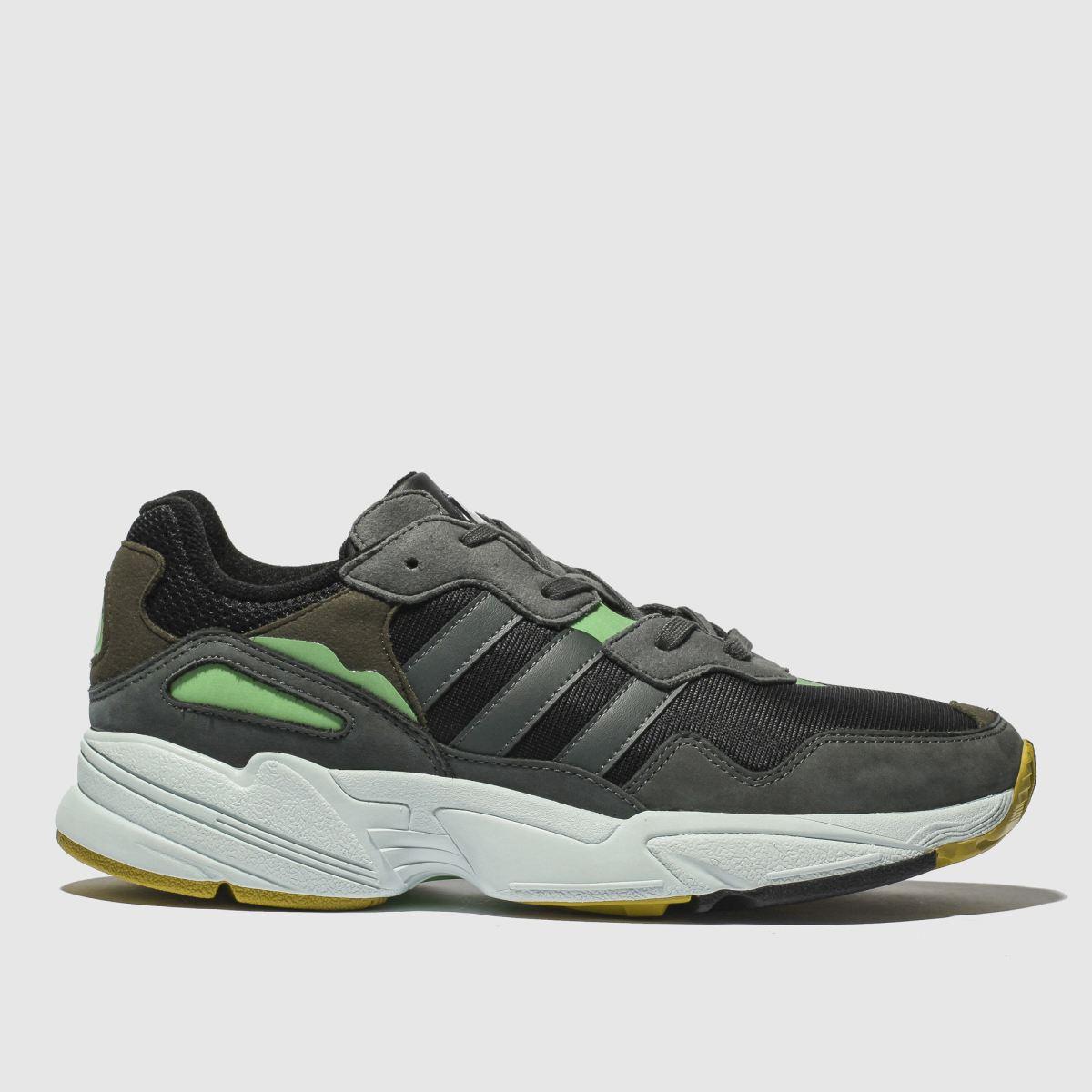 Adidas Black & Grey Yung 96 Trainers