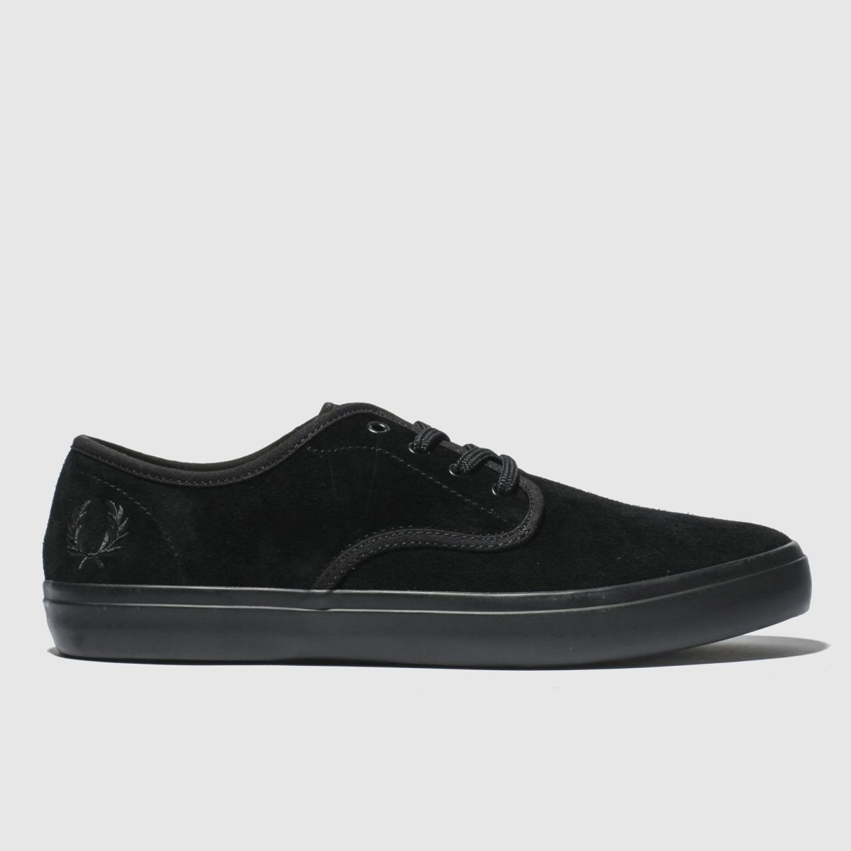 Fred Perry Black Merton Suede Trainers