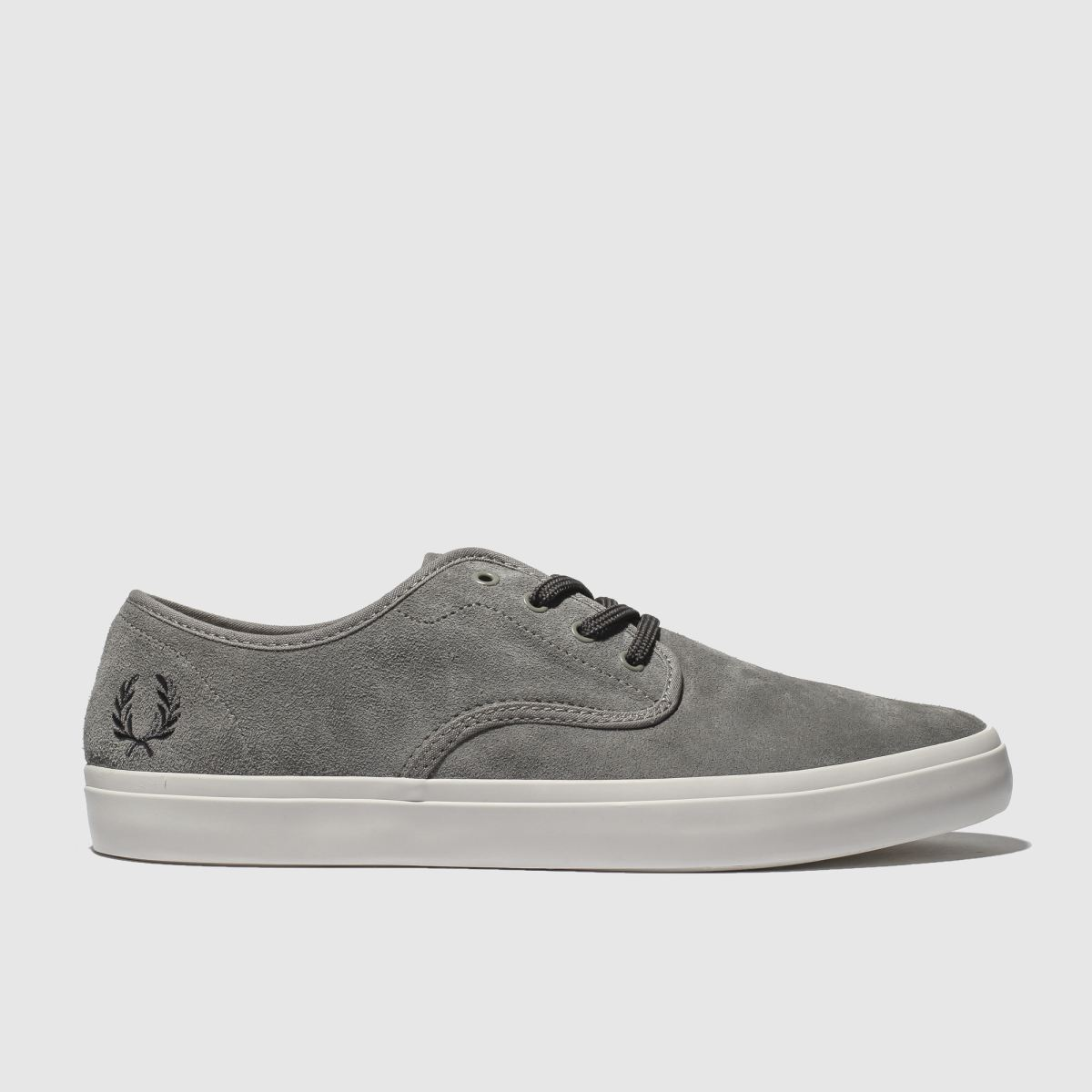 Fred Perry Grey Merton Suede Trainers