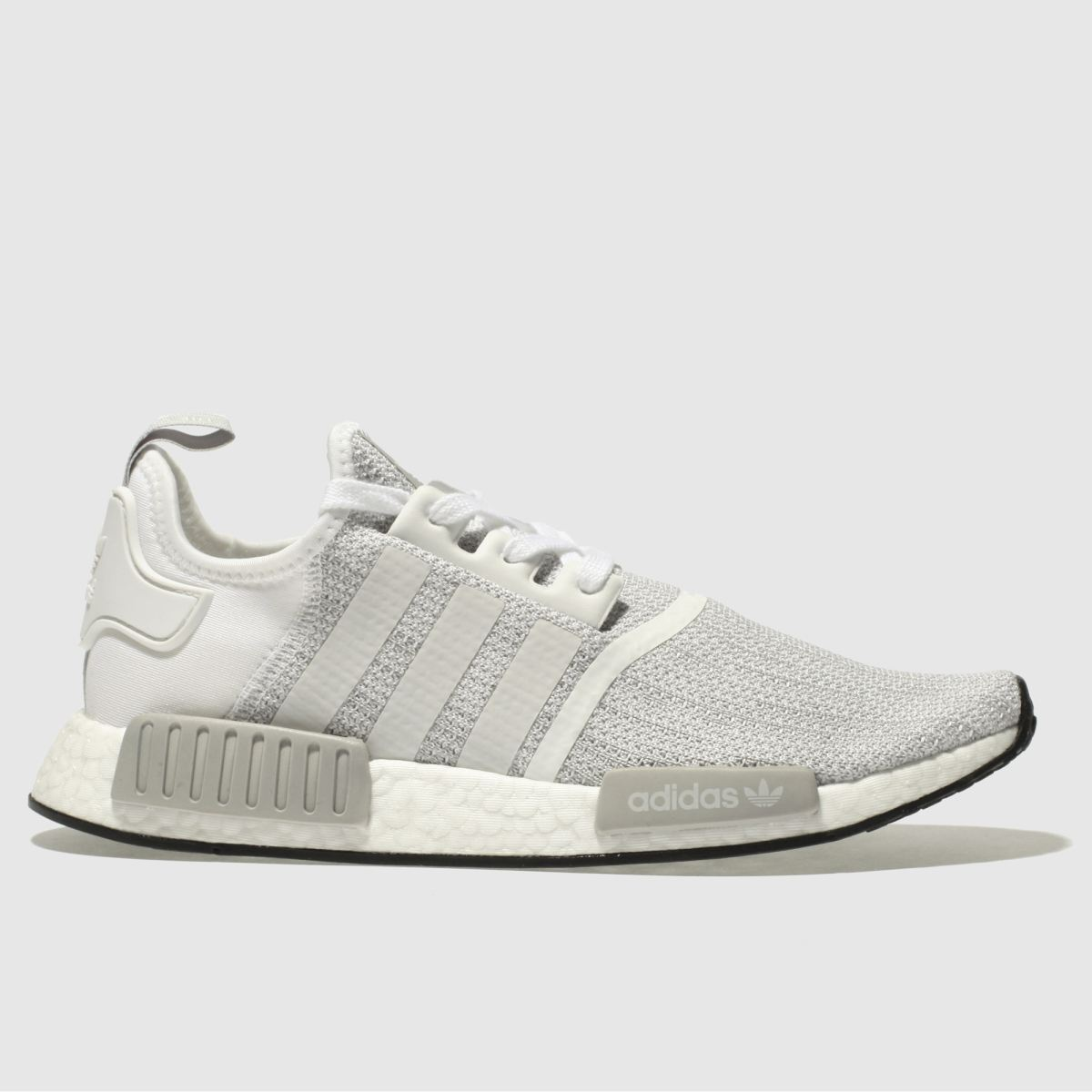 Adidas White & Grey Nmd_r1 Trainers