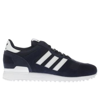 Adidas Navy & White Zx 700 Trainers