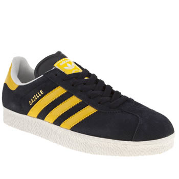 mens adidas navy gazelle ii trainers