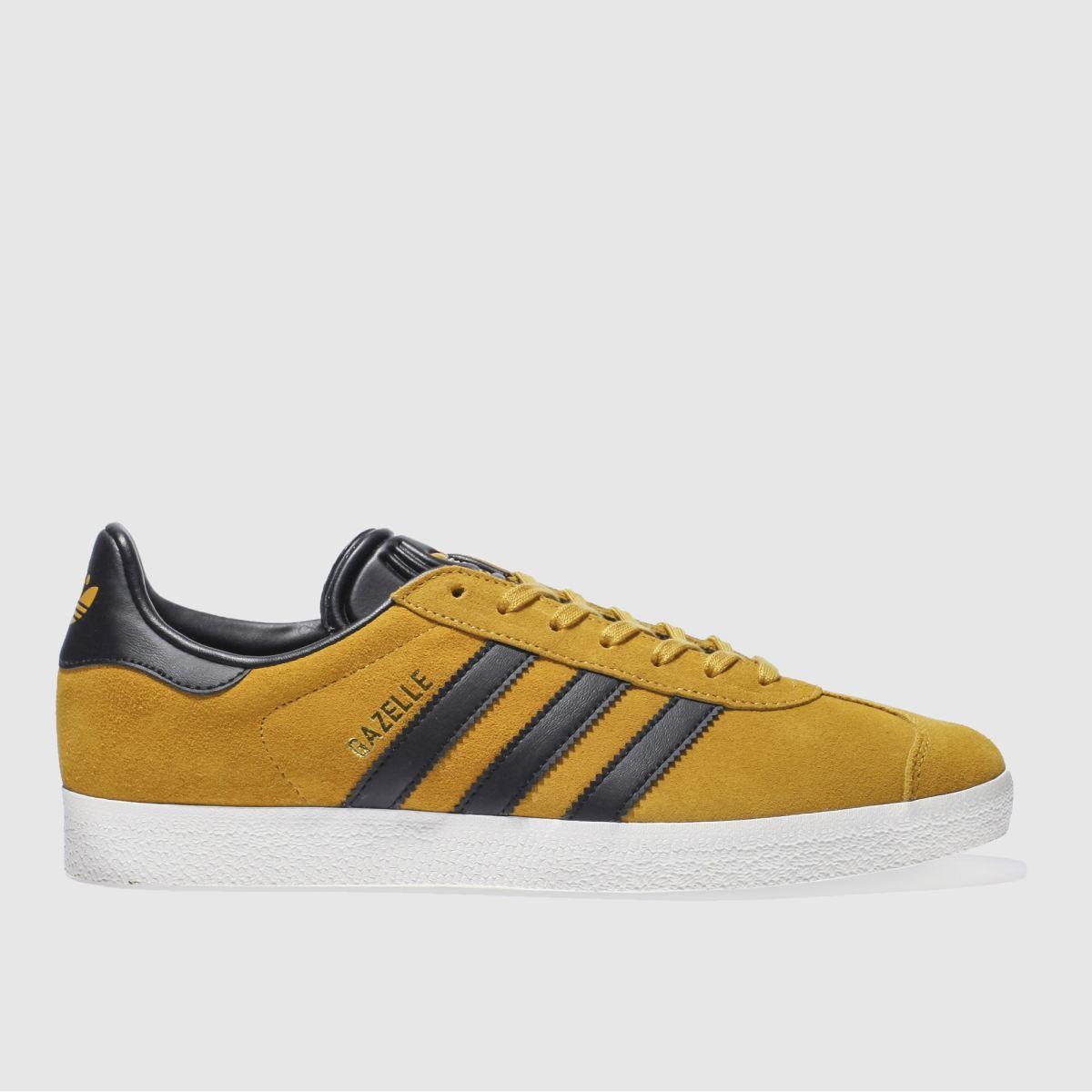 adidas yellow gazelle trainers