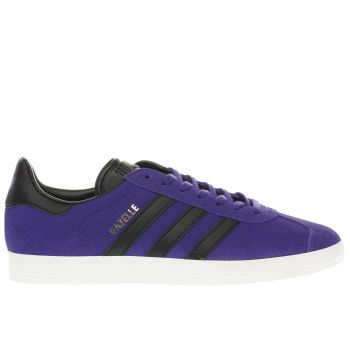 Adidas Purple Gazelle Mens Trainers