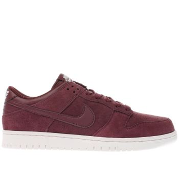 Nike Burgundy Dunk Low Mens Trainers