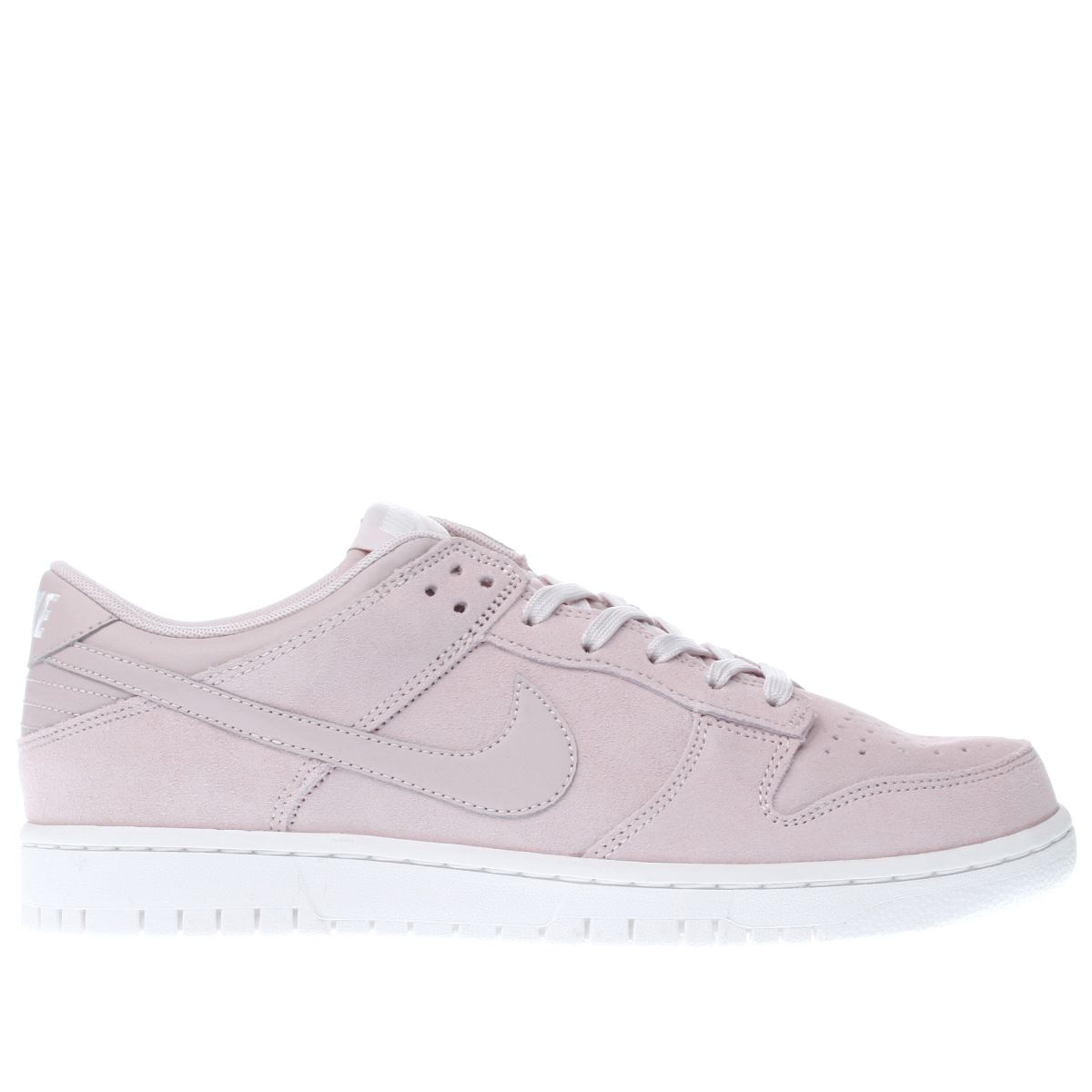 nike pale pink dunk low trainers