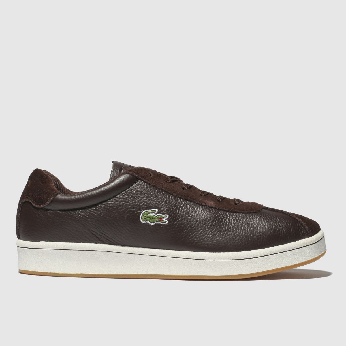 Lacoste Dark Brown Masters Trainers