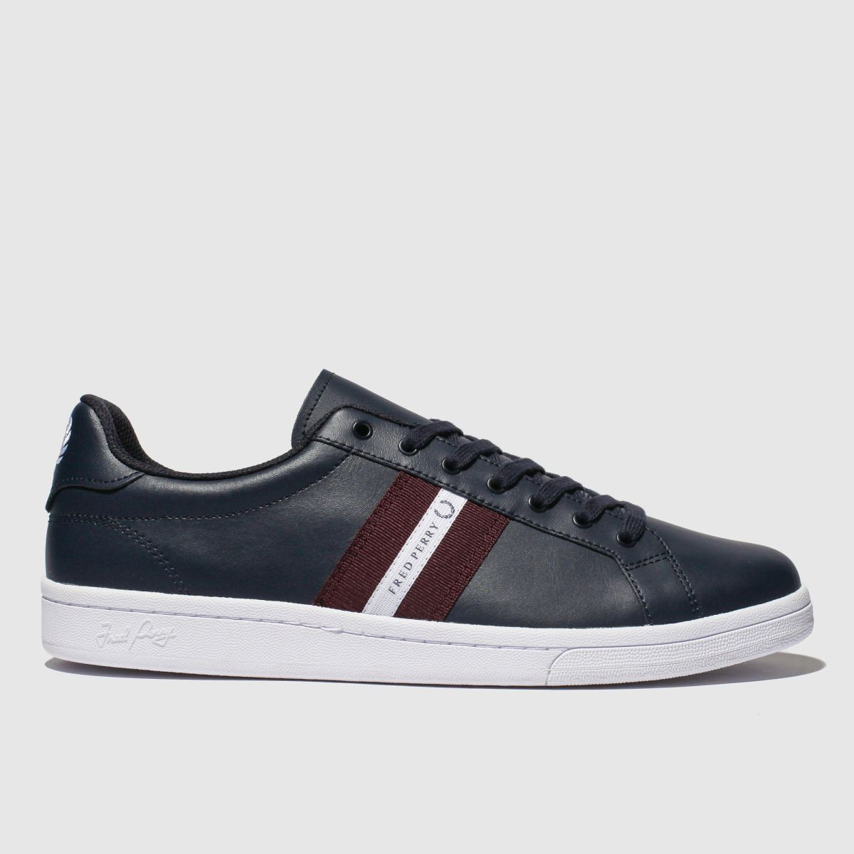 Fred Perry Navy B721 Leather Tape Trainers