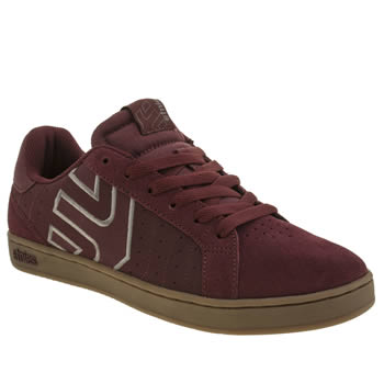 Etnies Burgundy Fader Ls Trainers