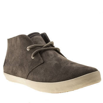 mens fred perry grey byron mid suede trainers
