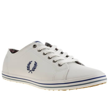 Mens Fred Perry White & Blue Kingston Trainers