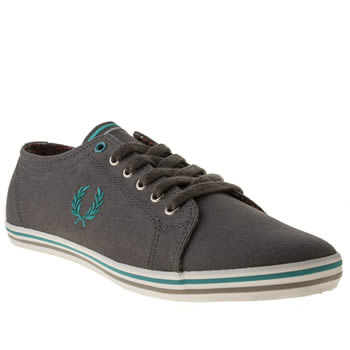 mens fred perry grey & navy kingston trainers