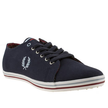 mens fred perry navy kingston trainers