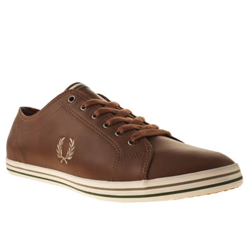 mens fred perry tan kingston trainers