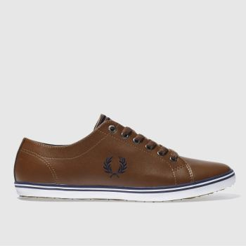 Fred Perry Tan Kingston Leather Trainers