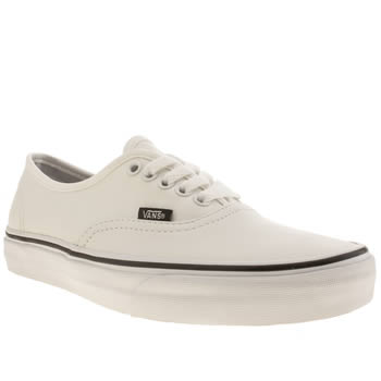 Vans White Authentic Leather Trainers