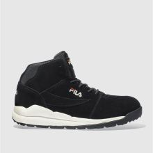 Fila Black Boulder Mid Mens Trainers