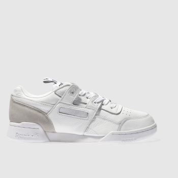 Reebok White Workout Plus It Mens Trainers